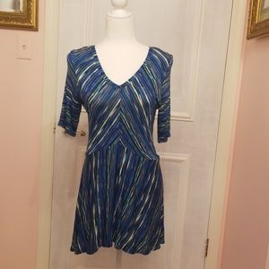 Dana Buchman blue stripe tunic